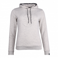 Women Hooded Sweat Emboss - grey
