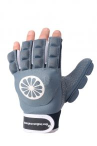 Glove shell/foam half finger [left] - denim