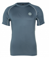 Men's First Layer Compression Tee - steel blue